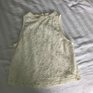 Off-White Lace Cropped Tank